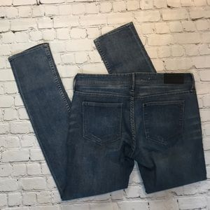 H&M squin low skinny jeans sz 31